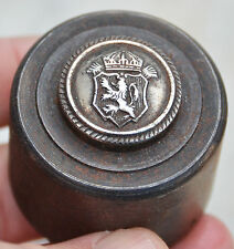 Antique Royal Bulgaria WWI Officers Military Uniform Button Five Steel Die Molds