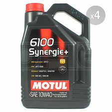 Motul 6100 Synergie+ 10W-40 Technosynthese Engine Oil 10W40 4 x 5 Litres 20L