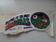 "VINTAGE 1980'S MADBALLS SLOBULUS IRON ON PATCH 4 1/2"" X 2"""
