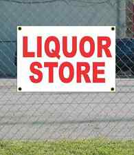 2x3 LIQUOR STORE Red & White Banner Sign NEW Discount Size & Price FREE SHIP