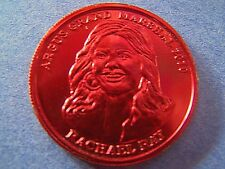 2010 Argus RACHEL RAY Grand Marshal Red Aluminum Mini Mardi Gras Doubloon