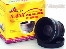 Z4a 0.45X Wide Angle Lens w/ Macro for Sony Alpha A5000 A5100 A6000 16-50mm Lens