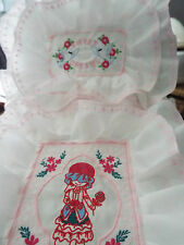 NEW - Dolls,Embroidered Bedding Set - cot/pram/bed.