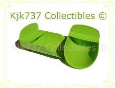 BRAND NEW SET OF 2 RARE TUPPERWARE ROCKER CANISTER SCOOPS ROUND SOLID GREEN
