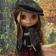 blythe clothes,Top jumper zip up heart