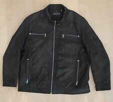 Andrew Marc Leather Moto Racer Riding Jacket Black XL