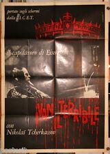manifesto 2F originale IVAN IL TERRIBILE Sergei Eisenstein anni '60