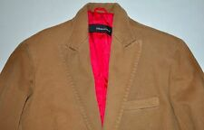 DSquared2 Tan Cotton Blazer Sports Coat Suit Jacket Size 48 ITALY AWESOME EUC