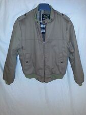 Michael Charles for Cooper Zip Up Jacket Plaid Flannel Lining Sz M USA EUC
