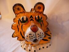 Collectible Blue Sky Ceramic Striped TIGER 5 Cup Teapot with Lid ~New