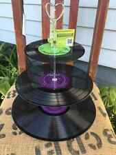 vinyl record tier-for cupcakes, jewelry, change, etc One of a kind by GmaJanisew