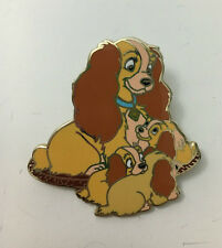 DISNEY LADY AND THE TRAMP LADY WITH THREE PUPPIES DANIELLE COLLETTE ANETTE PIN