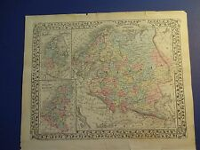 NICE, Hand-Colored Map of Russia in Europe, Sweden & Norway, & Denmark 1878