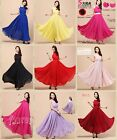 Women's Long Chiffon Evening Formal Party Ball Gown Prom Bridesmaid Dress