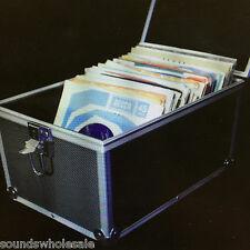 "DJ 7"" RECORD BOX / FLIGHT CASE HOLDS 100 VINYL - BLACK +24HDEL"