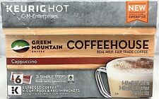 Green Mountain Coffeehouse Cappuccino Espresso Coffee Keurig Hot K Cup Cups