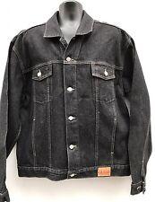 Men's Guess Jeans Black Denim Jean Jacket  Trucker Style Sz XXL NWOT