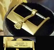 Vintage ROLEX 18k Yellow Solid Gold 16mm Logo Buckle, ROLEXSA 750 SWISS C: 1972