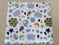 Grey cloud mix 100% Cotton Remnant  fabric 55cm x 51cm Quilting with Defect *