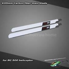 Carbon Fiber 430mm Main Blades for RC 500 Helicopter A8Q4