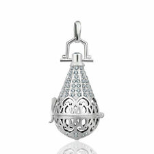 Silver Crystal Wishing Box Pendants Harmony Ball Cage Necklace Mexican Bola