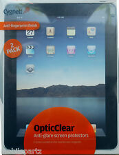 Pack of 2  iPad 1st Generation Cygnett OptiClear Anti-Glare Screen Protector