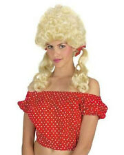 Country Girl Farmer Blonde Curly Pig Tail Wig Halloween Costume Prop NEW