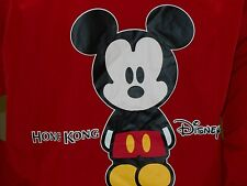 New Disneyland Disney Land Hong Kong Red Windbreaker Coat Jacket Mickey Mouse