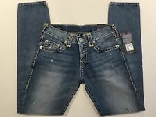 TRUE RELIGION ROCCO NO FLAP SUPER T MEN JEAN DUSTY PIER MJ60NWV5 NWT 30W $349