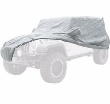 SmittyBilt Complete Car Cover Kit in Gray for 07-17 Jeep JK Wrangler 4 Door, 835