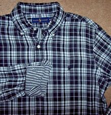 NWT Ralph Lauren $125 BLACK/WHITE Plaid/Striped Lining Shirt Mens L Double-Faced