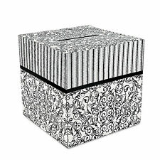 Black & White WEDDING CARD KEEPER BOX Cardboard Shower Party Supplies Decoration