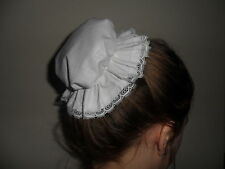 Girls/Ladies victorian, edwardian, downton maids bun mop cap, costume hand made