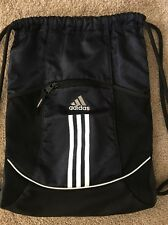 Adidas Alliance II Navy Black Sack pack Sport Gym Bag Clothes Shoe Backpack