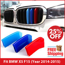 M-Tech Kidney Grill Grille 3 Colour Cover Stripes Clips for BMW X5 F15 2014-2015