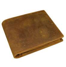 Men's Crazy horse Leather Wallet Snap coin pocket Cow leather pocket wallet