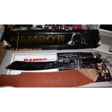 PISAU/PARANG RAMBO 4 Knife - BLACK Edition Signiture Edition Complete