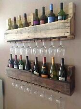 rustic and reclaimed pallet wine rack