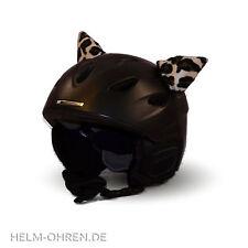 Helmohren Leopard Leo Tierohren Helmöhrchen Ohren f.Helm/ Skihelm/Snowboardhelm