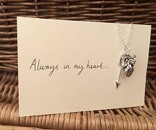 One Direction 1D Tattoo Inspired Charm Necklace Arrow Heart Larry Stylinson AIMH