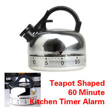 60 Minute Kitchen Timer Alarm Mechanical Teapot Shaped Timer Clock Counting HOT