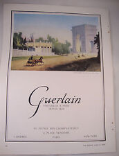 Full Page 1953 Vintage French Perfume Magazine Advert - Guerlain Horse Paris