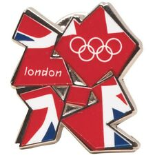 2012 London Olympic Games Memorabilia Metal Union Jack Badges Team GB x 2 Badges