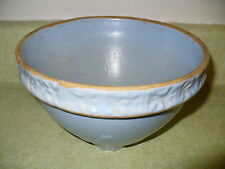 Rare McCoy? Red Wing? Pottery Light Blue Spider Web Pattern Yellow Ware Bowl