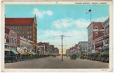 TOPEKA - Kansas Avenue - Lyman News Co - vintage USA  postcard