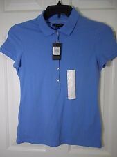 The limited Women's  Blue Short Sleeve Polo Shirt Top Size S Small