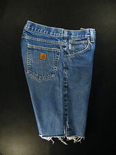 CARHARTT Vintage CUTOFF JEAN SHORTS Cut Off High Waisted W 30 MEASURED Long