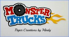 Craftecafe Mindy monster truck boy girl title premade paper piecing scrapbook