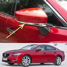 Chrome Rearview Side Mirror Cover Trim Strip Fit for Mazda 6 Atenza 2013-2015