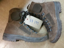 Original British Army Leather Meindl MTP Brown Suede Combat Boots Size 7M #199
